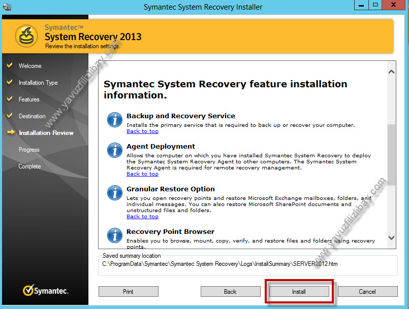 symantec system recovery 2013 agent download